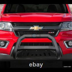 Fit 03-08 Honda Pilot / 06-14 Ridgeline Matte Blk Avt Bull Bar Garde Bumper Grille