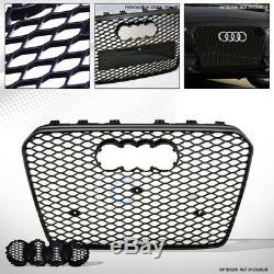 Fit 13-16 Audi A5 / S5 B8.5 Brillant Blk Rs Honeycomb Mesh Grill Grille Pare-chocs Avant