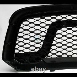Fit 13-18 Dodge Ram 1500 Blk Rebel Style Honeycomb Mesh Hood Bumper Grille