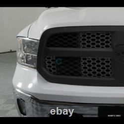 Fit 13-18 Dodge Ram 1500 Matte Blk Honeycomb Mesh Front Hood Bumper Grill Grille