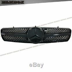 Fit Benz 00-06 W215 Cl-coupé Pare-choc Avant Grille Entièrement Noir Brillant B-dbl Rechercher