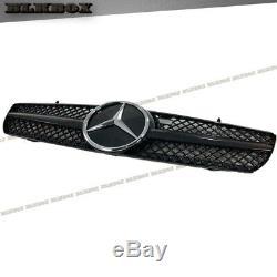 Fit Benz 00-06 W215 Cl-coupe Pare-chocs Avant Calandre Chromée Noir Brillant B-dcl Rechercher
