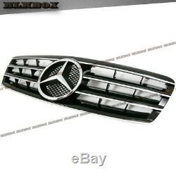 Fit Benz 00-07 W203 C-sedan 4-dr Pare-chocs Avant Grille Cover Chrome Noir Blk Rechercher