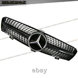 Fit Benz 05-08 W219 Cls-sedan Pare-chocs Avant Grille- Gloss Black Diamond Type Look