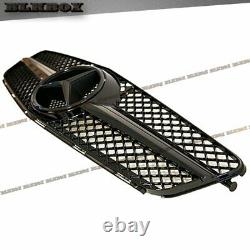 Fit Benz 08-14 W204 C-sedan Front Bumper Fence Grille All Gloss Black B-sl Look