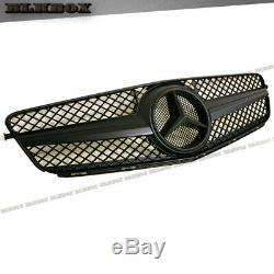 Fit Benz 08-14 W204 C-sedan Pare-choc Avant Grille Set- Foncé Mat Laque Noir Bk-sl