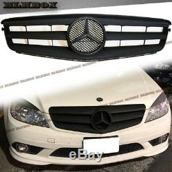 Fit Benz 08-14 W204 C-sedan Pare-chocs Avant Set Grille Mist Noir Mat B-oe Rechercher