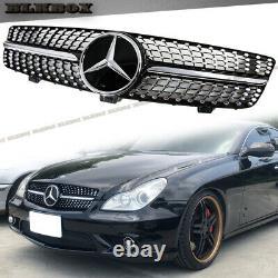 Fit Benz 09-10 W219 Cls-sedan Pare-chocs Avant Grille- Chrome Black Diamond D2 Look