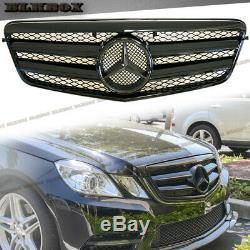 Fit Benz 10-13 Avant W212 E-sedan Pare-chocs Remplacée Grille- Tous Gloss Black Regard