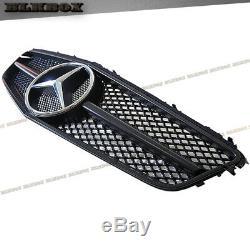 Fit Benz 10-13 W207 E-coupé Grille Pare-chocs Avant Noir Mat Noir B-cs Rechercher