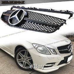 Fit Benz 10-13 W207 E-coupé Pare-choc Avant Grille Shiny Black Gloss Blk-c Rechercher
