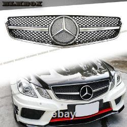 Fit Benz 10-13 W207 E-coupé Pare-chocs Avant Calandre Chromée Argent Noir Brillant B Rechercher