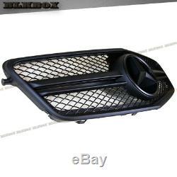 Fit Benz 10-13 W212 E-sedan Pare-choc Avant Grille Cover Noir Mat Blk2 Rechercher