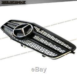 Fit Benz 10-13 W212 E-sedan Pare-choc Avant Remplacée Grille- Blk-a Gloss Look Noir