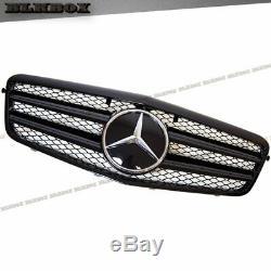 Fit Benz 10-13 W212 E-sedan Pare-chocs Avant Remplacée Grille-blk-d1 Gloss Laque Noir