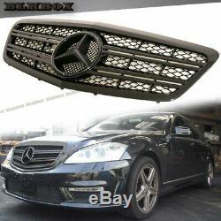 Fit Benz 10-13 W221 S-sedan Pare-choc Avant Remplacée Grille- Tous Brillant Noir Regard