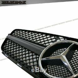 Fit Benz 12-15 C204 C-coupé Pare-chocs Avant Remplacer Grille Set- Noir Brillant Rechercher Sl