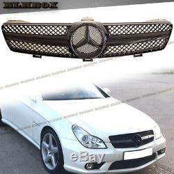 Fit Benz Cls-05-08 W219 Sedan Pare-choc Avant Grille-fully Gloss Black B-sl GB Rechercher