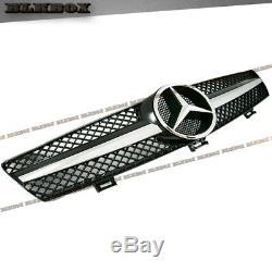 Fit Benz Cls-05-08 W219 Sedan Pare-chocs Avant Clôture Grille- Chrome Noir B-sl Rechercher