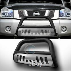 Fits 04-15 Nissan Titan / Armada Matte Blk / Skid Bull Bar Brosse Garde Bumper Grille