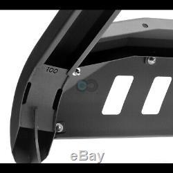 Fits 08-14 Ford Econoline E150 / E250 / E350 Van Matte Blk Avt Bull Bar Garde Grille