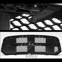 Fits 13-18 Dodge Ram 1500 Glossy Blk Oe Honeycomb Mesh Pare-chocs Avant Grill Grille