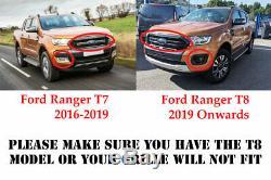 Ford Ranger Grille De Mise À Niveau T8 2019+ Wildtrak Ultime Furtif Grill Noir Brillant