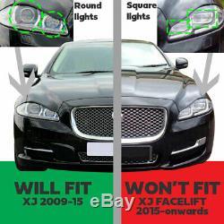 Gloss Black Pack Calandre Pour Jaguar Xj Lwb Mesh Suralimenté Portefeuille Swb