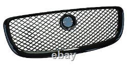 Gloss Black Pack Grille Avant Pour Jaguar Xj Maille Surchargée Portefeuille Lwb Swb