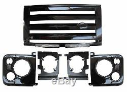 Gloss Kit De Calandre Noir Style Svx Pour Land Rover Defender 90 110 60 Nouveau