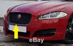 Grille Avant Pour Jaguar Xf Maille Noire En Nid D'abeille 2011-15 Immobilier X250 Xfr-s