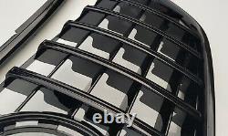 Grille De Gril Noire Brillante Gt Panamericana Pour Mercedes Classe V W447 2014-2019