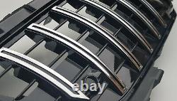 Gt Panamericana Chrome Grille Grille Noire Pour La Classe Mercedes Slk R172 2011-15
