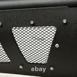 Haut De La Page Pour 2006-2009 Dodge Ram Studded Mesh Bull Bar Grille Guard - Textured Blk
