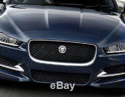 Jaguar Xe Noir Pack De Remplacement Grille Complète Chrome Black Border Mesh