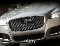 Jaguar Xf Chrome & Black Complete Grille Remplacement Pour Modèles Avec Option Radar