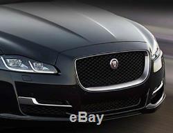 Jaguar Xj Chrome & Black Grille De Rechange Complète Avec Emblème R 2016