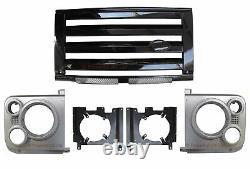 Kit De Calandre Avant De Style Silver+black Svx Pour Land Rover Defender 90 110
