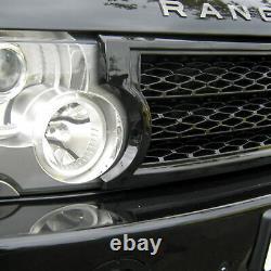 Kit De Calandre De Conversion Supercharged Noir Pour Range Rover L322 03-05 Vogue Grill