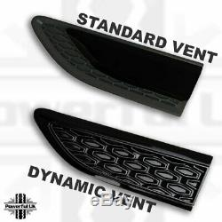 Kit Dynamique Noir Pour Discovery Sport = Calandre + Prises D'air Latérales + Plaque D'immatriculation Arrière
