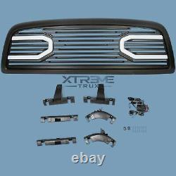 Matte Black Led Grille Pour 09-12 Dodge Ram 1500 Remplacement Supérieur