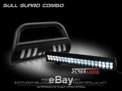 Matte Blk Steel Bullguard Bar + 120w Cree Led Pour 99+ Chevy Suburban / Tahoe