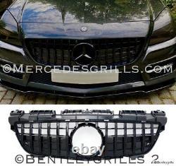 Mercedes Slk R172 Grille Panamericana Gt Amg R172 Grille 2011-2015 Gloss Black
