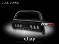 Pour 01/02+ Nissan Frontier/xterra Matte Blk Hd Bull Bar Brush Push Grille Garde