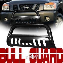 Pour 04-12 Chevy Colorado / Canyon Blk Heavyduty Bull Bar Grill Bumper Garde Grille
