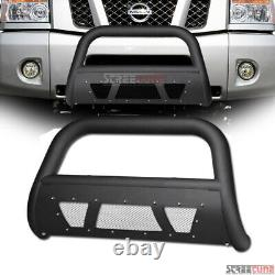 Pour 04-15 Titan/armada Matte Blk Studded Mesh Style Bull Bar Grill Grille Guard