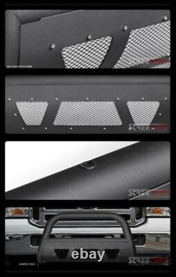 Pour 05-07 F250/f350 Superduty Matte Blk Studded Mesh Bull Bar Grill Grille Guard