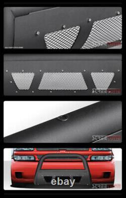 Pour 05-15 Toyota Tacoma Matte Blk Clouté Mesh Bull Bar Poussez Garde Bumper Grille