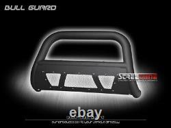 Pour 11-20 Toyota Sienna Matte Blk Studded Mesh Bull Bar Push Bumper Grille Guard