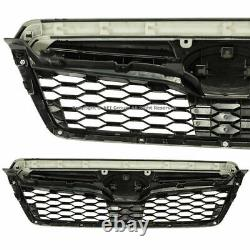 Pour 14-18 Subaru Forester Sti Style Black Grill Front Upper Grille Assemblage